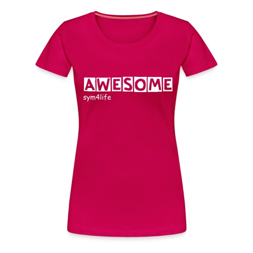 AWESOME simple - Vrouwen Premium T-shirt