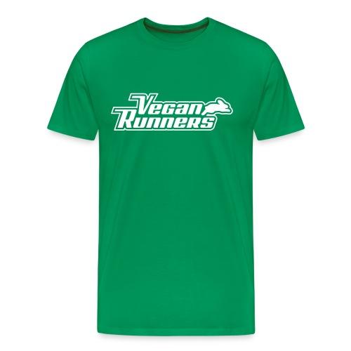 Vegan Runners Green Shirt - Men's Premium T-Shirt