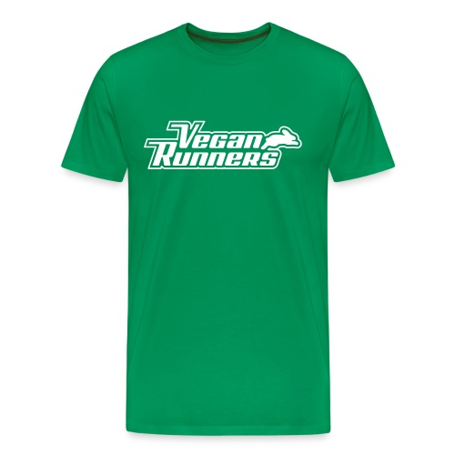 Vegan Runners Green Shirt - Men's Premium T-Shirt