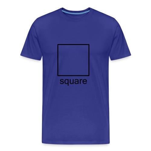 Men's Square Ts - black square - Men's Premium T-Shirt