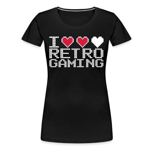 I love retro gaming f - T-shirt Premium Femme