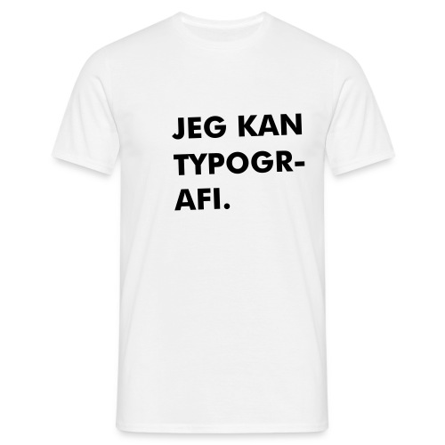 jeg kan typo - Men's T-Shirt