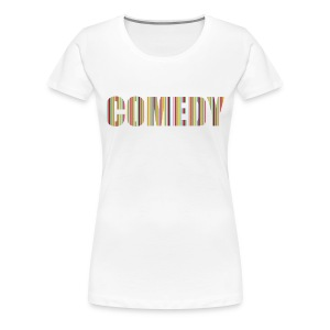 Comedy Damen T-Shirt Streifen - Frauen Premium T-Shirt