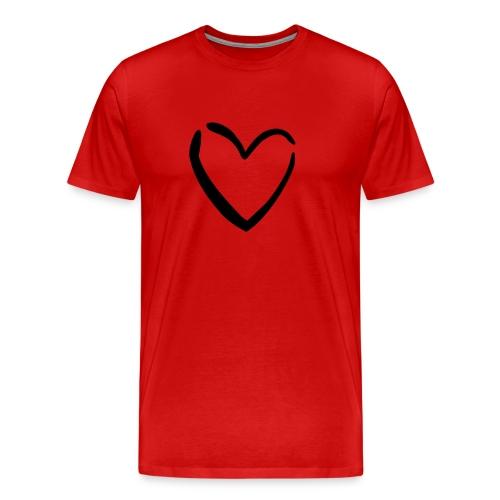 Tröja i större storlek med ett hjärta - Premium-T-shirt herr