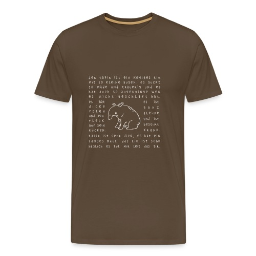 Tapir 02 - Männer Premium T-Shirt