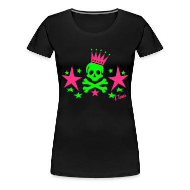 Skull King, King, Queen, Bones, Knochen, Crown, Krone, Sterne, Stars, Geschenke, Rock, Emo, Pop, Disco, Dance, Music - eushirt.com