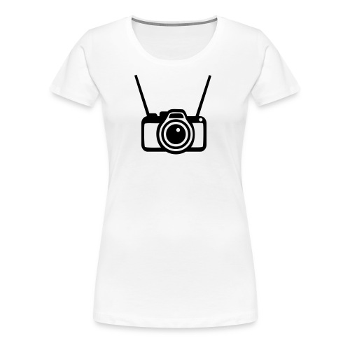 Camifoto blanca y negra - Camiseta premium mujer