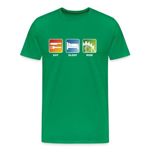 Eat, Sleep, Ride! - T-Shirt Khaki Grün - Männer Premium T-Shirt