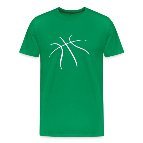 Basket Maniak (zieleń i biel) - Koszulka męska Premium
