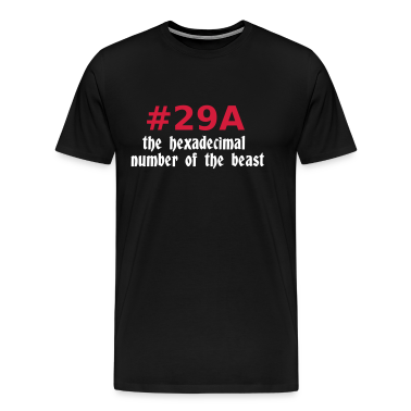 Black 666 - satan - devil - the hexadecimal  number of the beast - 29A T-Shirts