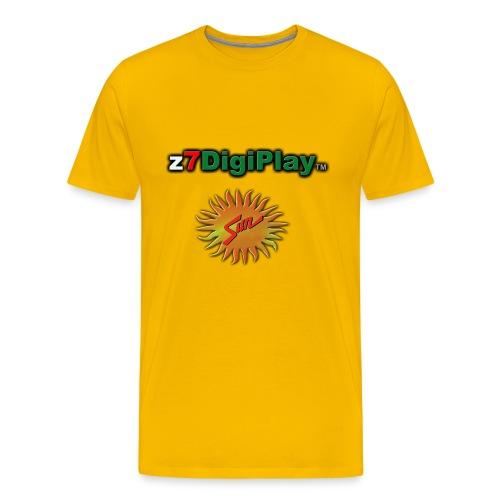 Z7DigiPlay Logo - SUN - Men's Premium T-Shirt