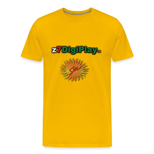 Z7DigiPlay Logo - SUN - Men's Premium T-Shirt