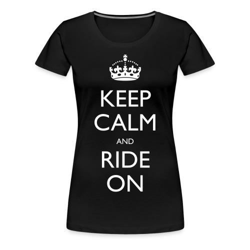 Women's Premium T-Shirt - rider,ride,motorcycle,motorbike,keep calm,biker,bike