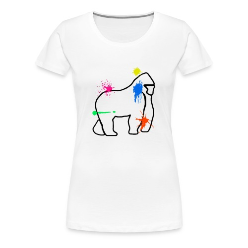 Party Guerilla Colour Shoot White - Women's Premium T-Shirt