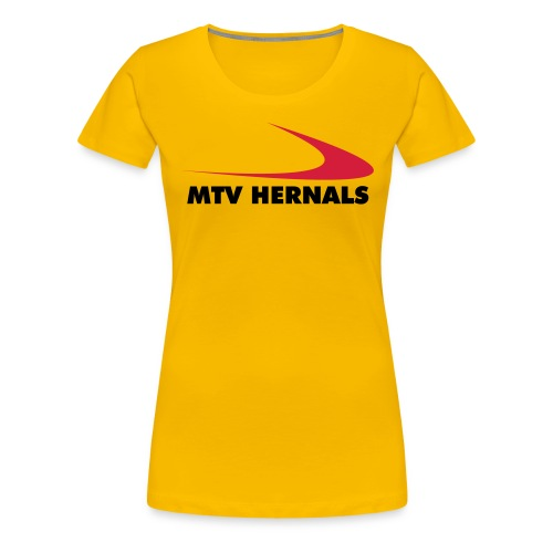Frauen-Shirt gelb - Frauen Premium T-Shirt