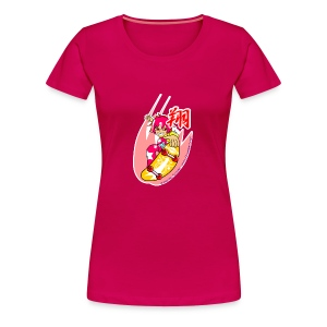 Skating girl and mouse (Fly high) - Women's Premium T-Shirt