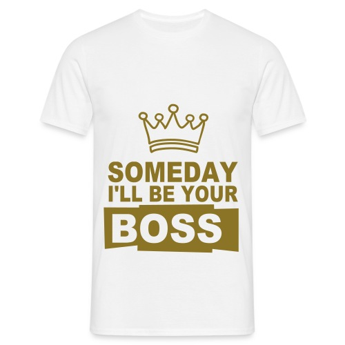 Mannen T-shirt - work,king,fun