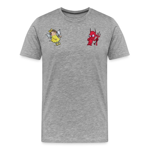 Engelchen + Teufelchen - Männer Premium T-Shirt