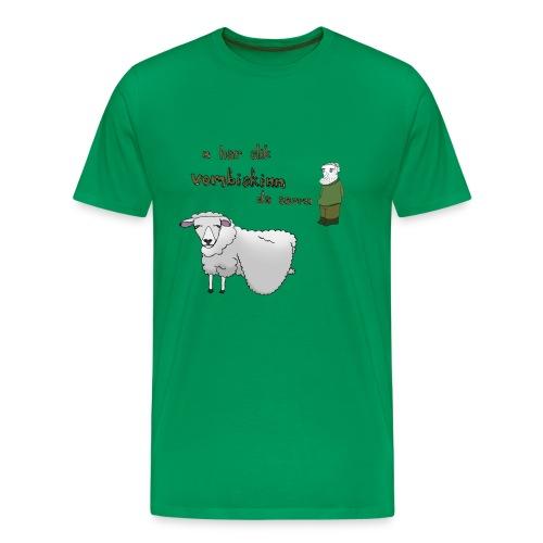 Vombiskinntrøya, gut - Premium T-skjorte for menn