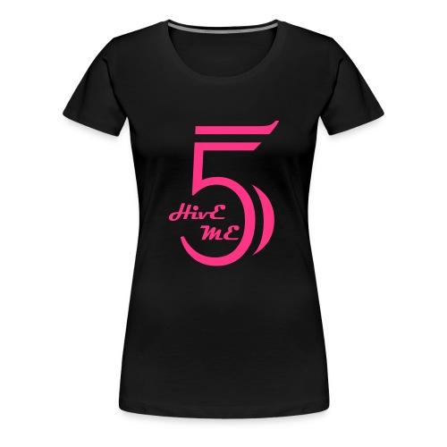 Hive Me Five Schwarz Girl - Frauen Premium T-Shirt