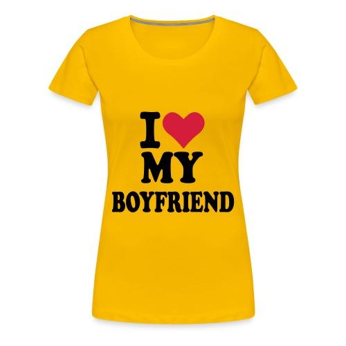 i love my boyfriend shirt - Women's Premium T-Shirt