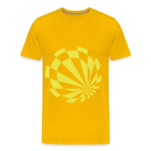 Beelo Circle3 Yellow - Männer Premium T-Shirt