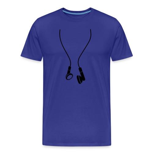 headphones - Männer Premium T-Shirt