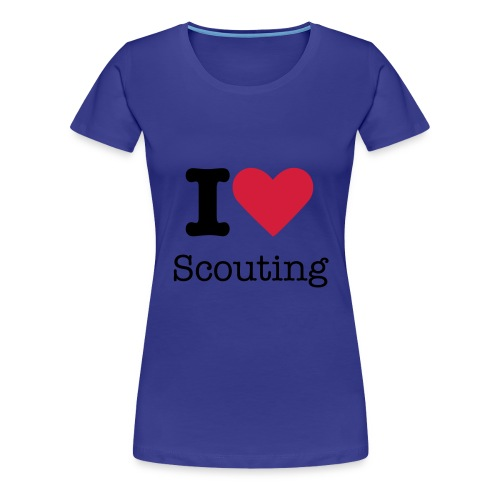 I love scouting Woman - Frauen Premium T-Shirt