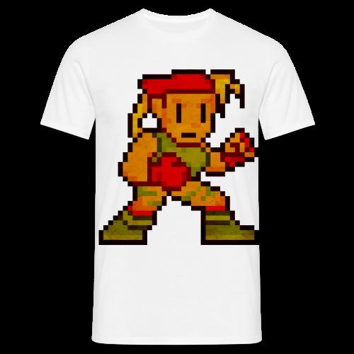 Pixelfighter ArmyGirl (Vintageprint) - Men's T-Shirt