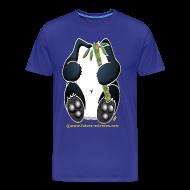 Tee shirts ~ T-shirt Premium Homme ~ Panda homme bleu royal