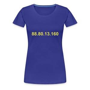 IP 88.80.13.160 (gele opdruk) - Vrouwen Premium T-shirt