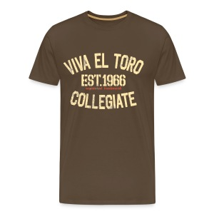 Viva El Toro! Rusty Rags Graphic T Collegiate -  noble brown - Men's Premium T-Shirt