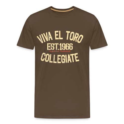 Viva El Toro! Rusty Rags Graphic T Collegiate -  noble brown - Männer Premium T-Shirt