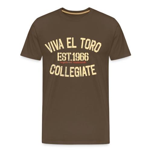 Viva El Toro! Rusty Rags Graphic T Collegiate -  noble brown - Männer Premium T-Shirt