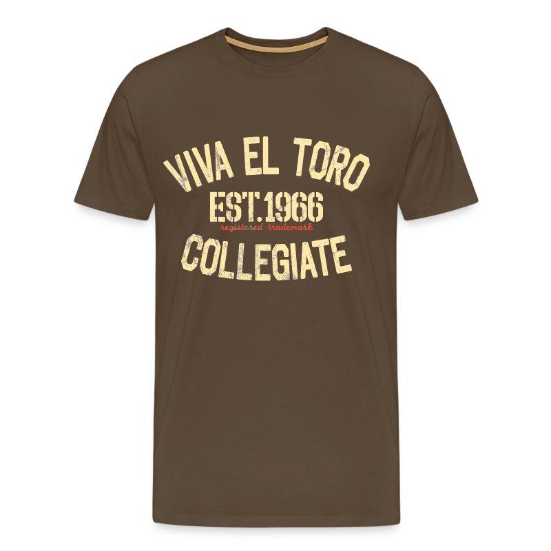 Viva El Toro! Rusty Rags Graphic T Collegiate -  noble brown - Men's Premium T-Shirt