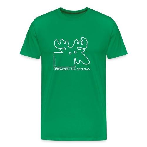 Norwegen 4x4 white - Männer Premium T-Shirt