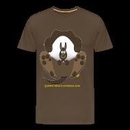 Tee shirts ~ T-shirt Premium Homme ~ Kangourou homme marron