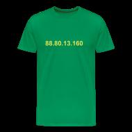 T-shirts ~ Mannen Premium T-shirt ~ IP 88.80.13.160 (gele opdruk)