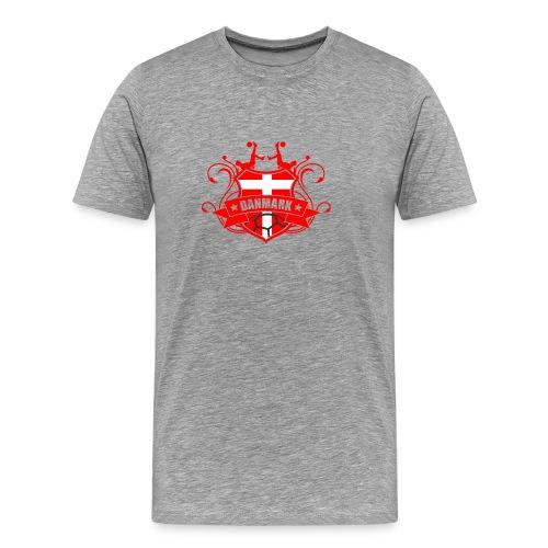 Fodbold DANMARK - Herre premium T-shirt