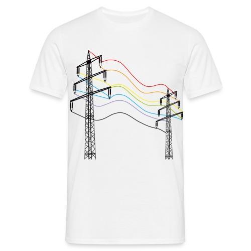Männer T-Shirt - Strommast,Strom,Energie,Elektrizität