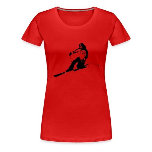 Cruising Telemarker Girl (XXL+) - Frauen Premium T-Shirt