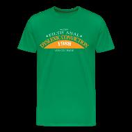 T-shirts ~ Mannen Premium T-shirt ~ Dyslexic Convention '88 - Text rear