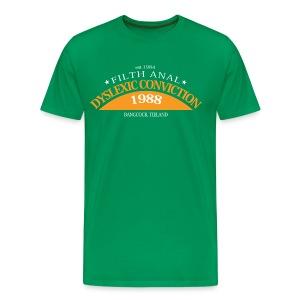 Dyslexic Convention '88 - Text rear - Mannen Premium T-shirt