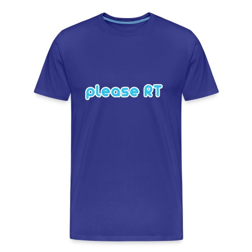Please RT - Mannen Premium T-shirt