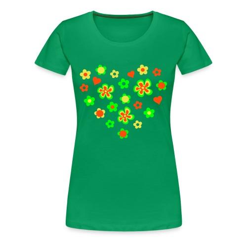 Flower Heart - Vrouwen Premium T-shirt