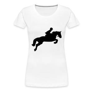 Ratsastus - Naisten premium t-paita