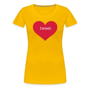 Heart tweet - Women's Premium T-Shirt
