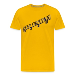 KEEP FIGHTING - DONS DRESSING ROOM SIGN - Men's Premium T-Shirt