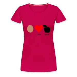 I Love Apple - Frauen Premium T-Shirt