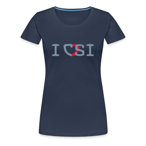 I love Crime Series (dames) - Vrouwen Premium T-shirt